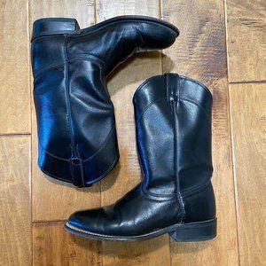 Laredo Black Western Boots Sz 7.5